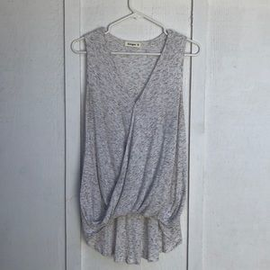 Ash Gray Sleeveless Blouse